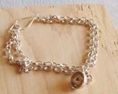 Sterling silver chain bra...