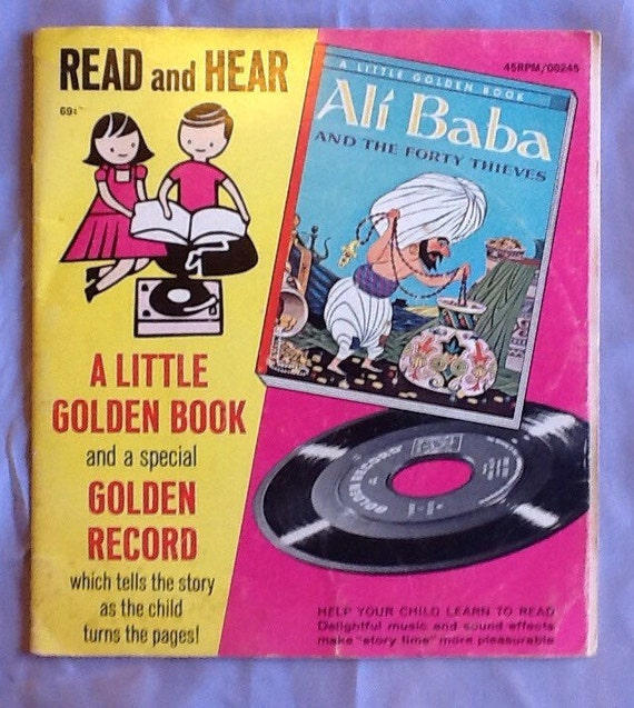 Ali Baba and the Forty Thieves Book and Vintage Vinyl Record