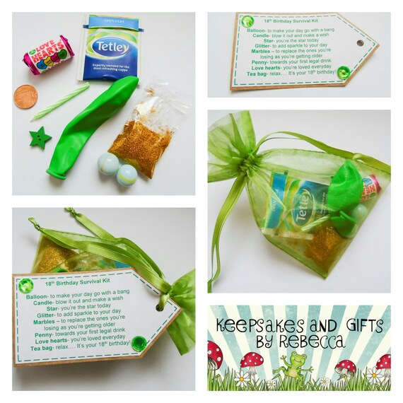 18th Birthday Survival Kit Personalised On By