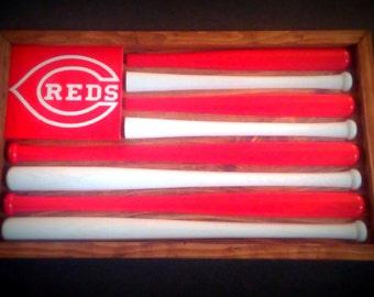 Cincinnati Reds Baseball Bat Flag