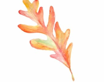 Fall Leaves,Oak Leaf, Painting, Fall Decor, Autumn Leaves, Autumn, Welcome Fall, Colorful Leaves, Autumn Decor, Leaf Watercolor