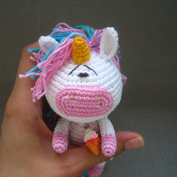Unicorn Amigurumi Yarn Yard : Little Crochet Unicorn. Amigurumi