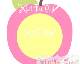 EXCLUSIVE  Apple Monogram SVG and DXF File