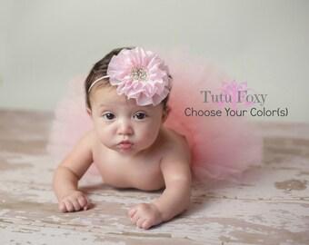Newborn Tutu, Newborn Tutu Set, Baby Tutu, Tutu with Headband, Baby Tutu with Headband, Pink, White, Ivory, Silver or Grey Tutu