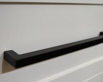door pullsrustic 13 inches forged iron cabinet door pull black matte cabinet door