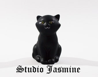 Ceramic Hand Painted Lucky Black Cat