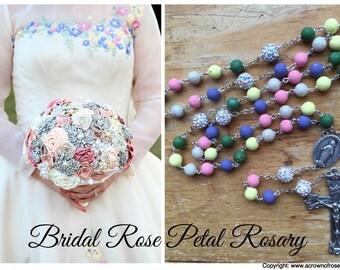 FEATURING the Custom Bridal Rose Petal Rosary