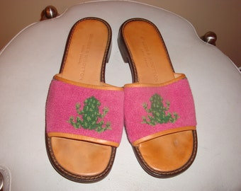 Fnal Clearance Pink Frog Stubbs & Wootton Sandals 7M