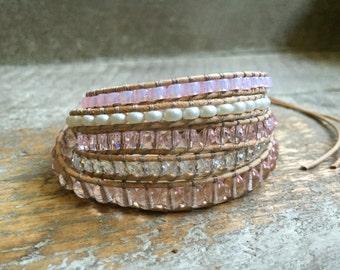 Naomi Beaded Wrap Bracelet