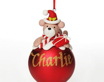 Red Teddy Christmas Character