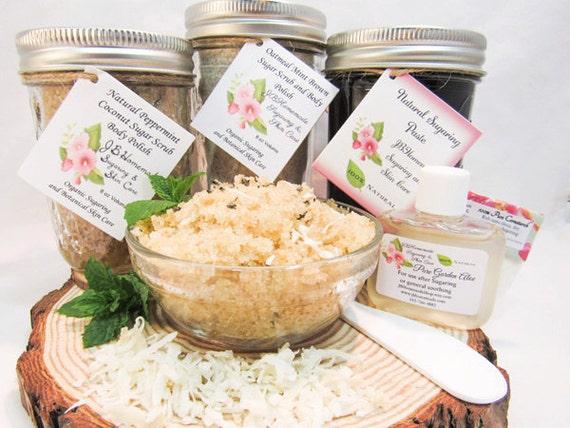 Sugaring Paste & Peppermint Coconut Sugar Scrub Deluxe Bundle