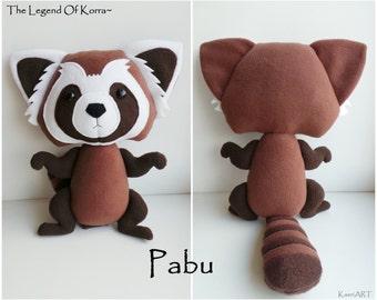 Baby Pabu plush~ The Legend of Korra, Stuffed fire ferret toy, ~ 38cm length