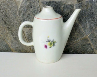 Bulgarian small  Pottery milk-jug, Porcelain milk-jug made  in 1970s