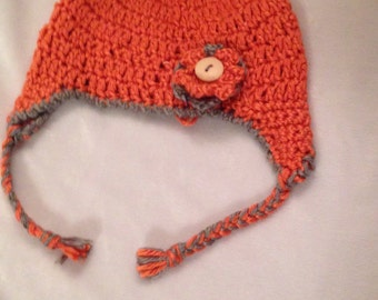 Crochet Baby Hat, 3 Month Old