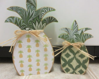 Summer Decor-Wood Pineapple Set-Pineapples