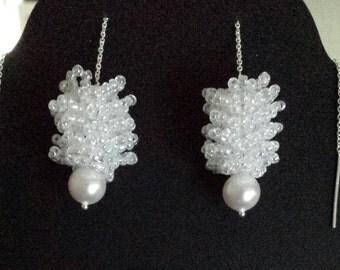 White Acorn Pearl drop
