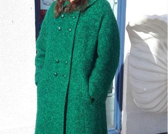 Authentic Vintage 1960's Green Coat