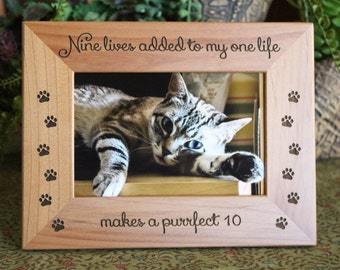 Personalized Cat Picture Frame