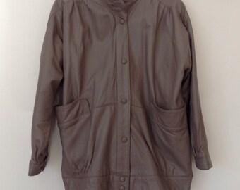 Vintage grey butter soft leather jacket.