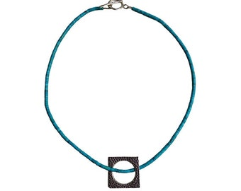 Circle of Love Pendant Handmade Natural Turquoise Stone Necklace