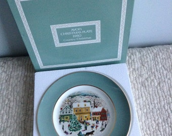 Avon Christmas Plate 1980