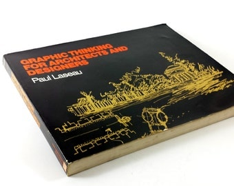 """Vintage Book: """"Graphic Thinking for Architects and Designers"""" Paperback by Paul Laseau"""