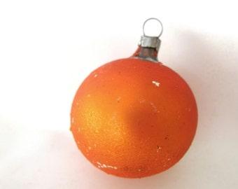 Vintage Christmas Ornament, Small Orange Holiday Ornament