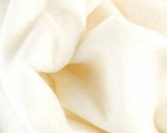 Pre-felt, Merino-Silk blend, Natural White, 1 meter length 120 cm wide (47 x 39 inches)
