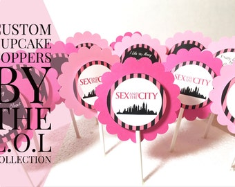 Sex and the City Party Decoration, Bachelorette Party, Girls Weekend Cake Decoration, Party Supplies