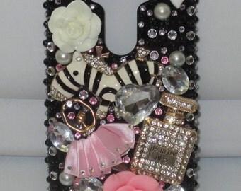 LG G3 Zebra, Ballerina, Bling Phone Case