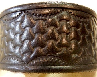 Black Veg Tanned Leather Wriststrap