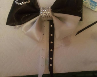 Black and white Hair Bow