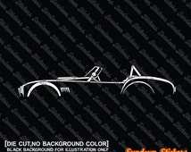 2X car silhouette stickers - for Shelby AC Cobra classic roadster