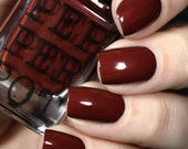 """Deep Red Oxblood Red Nail Polish Gold Shimmer """"Super Senior"""" Gift For Her Bath And Beauty"""