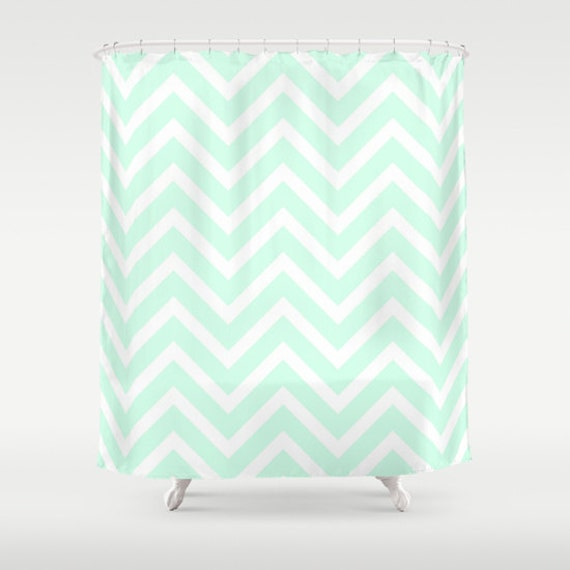 mint chevron shower curtain kids bathroom shower curtain mint
