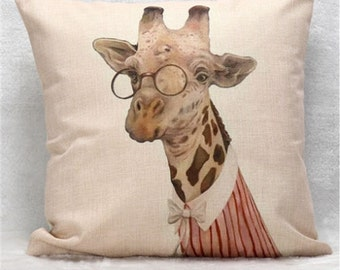 Hipster Giraffecushion cover, pillow cover