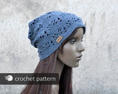 Chill Out Boho Hat - Crochet Pattern (PDF file), Sizes: S/M/L Adult