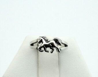 Dainty Pony Sterling Silver Vintage Adjustable Ring #PONY-SR1