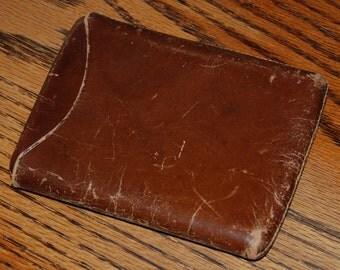 Genuine Vintage 1940s-'50s Leather Cigar Case -- Free Shipping!