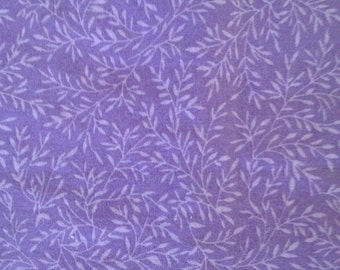 Baby Crib Sheet  orToddler Bed Sheet - Purple Twig and Leaf Pattern