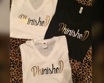 "PhinisheD tees ""P.HD"""