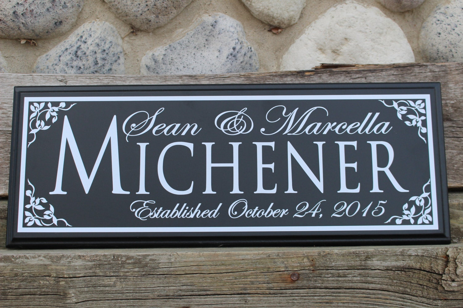 Wedding Date Picture Gift: Wedding Established Sign-Wedding Gift-personalized Wedding
