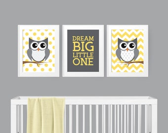 Owl Nursery Decor - Woodland Nursery - Gender Neutral Nursery - Nursery Wall Art - Nursery Decor - Kids Room Decor - Baby Shower Gift idea