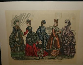 McCalls Set of 4 Godey's Fashion Prints
