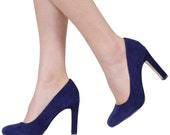 Superman Heels, Blue, UK Size 6