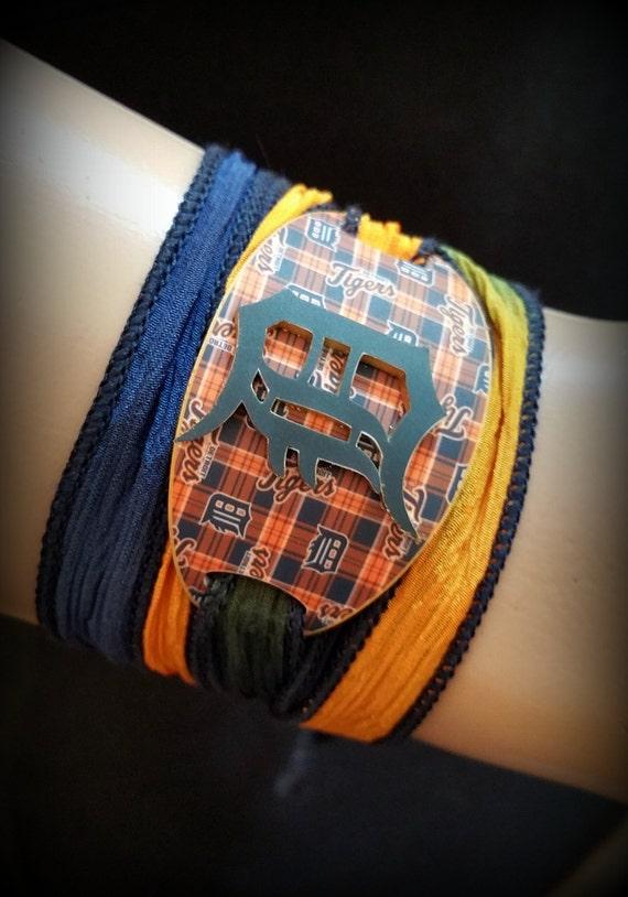 detroit tigers bracelet detroit tigers jewelry wrap
