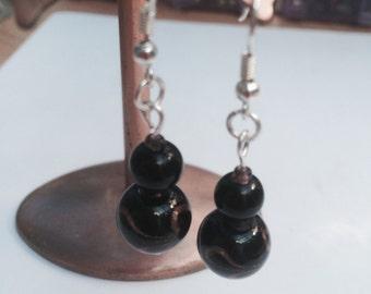 Copper Swirl Handmade Earrings