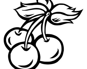 Cherries Die-Cut Decal Car Window Wall Bumper Phone Laptop