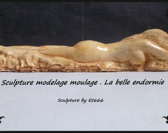 Sculpture modeling casting. The sleeping beauty