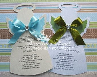 Baptism Invitation, Angel Invitation, Baptism Angel Invitation, Angel Invitations, Christening Invitations, baptism invitations